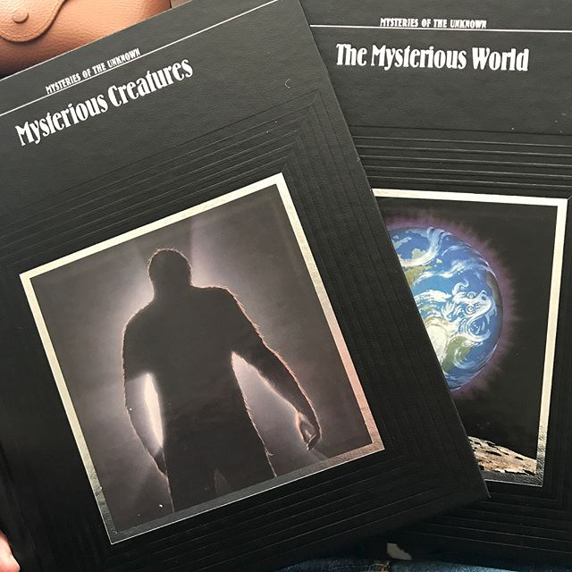 Scored some great new research material and image reference for the film this weekend @themysticmuseum . This entire series is a fun one to revisit. #timelifemysteriesoftheunknown #timelife #bigfoot #champ #owlman #cryptozoology #cryptozoologist #lochnessmonster #yeti