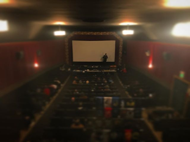 Fun outtake from a few weeks ago. @sethbreedslove of @small_town_monsters does a Q and A at Bigfoot Bonanza after a screening.