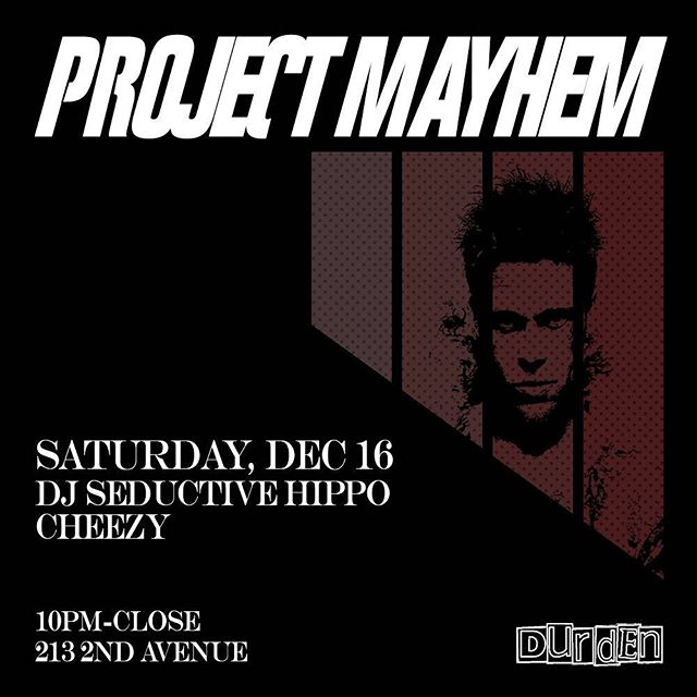 Tonight! DJ Cheezy and DJ Seductive Hippo will be bringing the Mayhem from 10pm-close. $5 Absolut cocktails, $10 beer and shot, $15 pitchers. Get your drink on! 🍻🍻🍻🍻