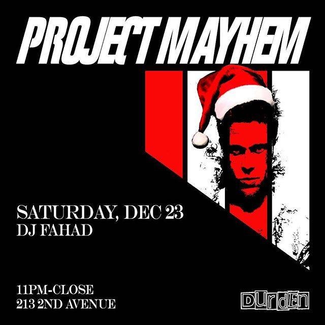Tonight!!! We've got @djfahadnyc spinning from 11pm-close. Pregame with $5 jamo shots beforehand and $5 Absolut cocktails all night 🎅🏻🍻