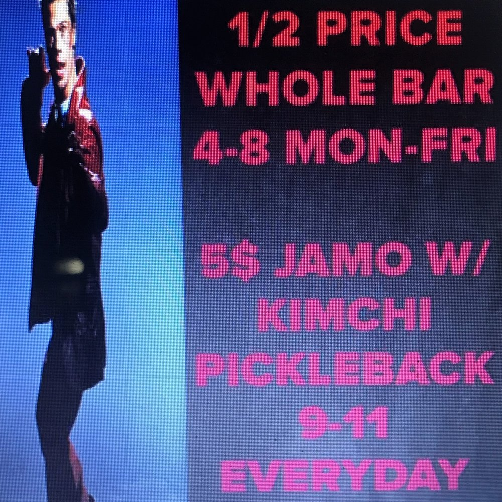 HAPPPIEST HOUR IN NYC   2 FOR 1 WHOLE BAR MON- FRIDAY 4PM TILL 8PM