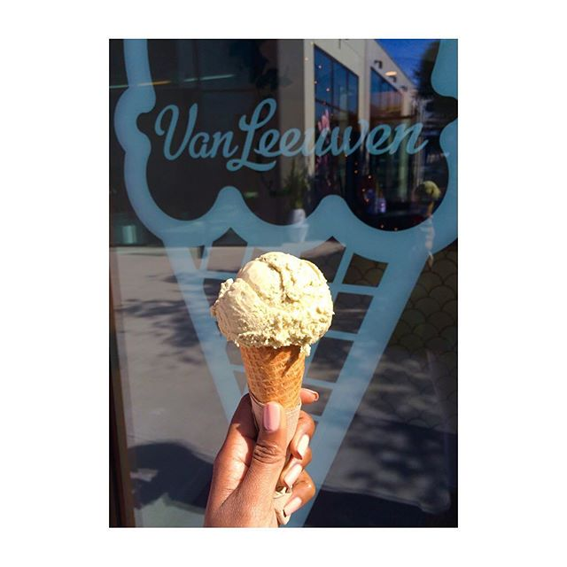 Pistachio got me like 😛Yes to #veganicecream everyday, especially when it's a #delicious treat from @vanleeuwenicecream in Culver City!