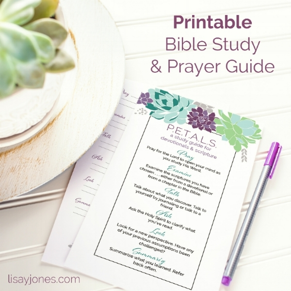 Click here  for your copy of P.E.T.A.L.S. - your devotional and scripture study guide