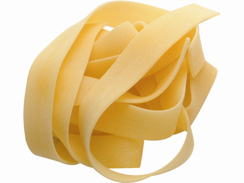 PAPPARDELLE: Large, very broad, flat noodles.