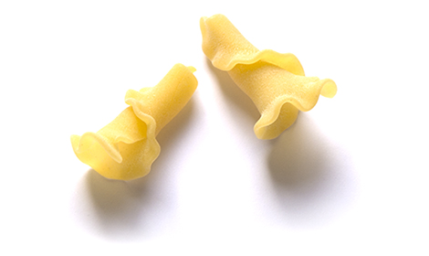 CAMPANELLE: A typer of pasta with a ruffled edge. Great for casseroles.