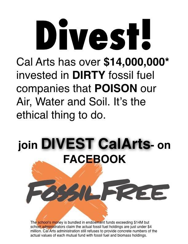Divest CalArts Flier