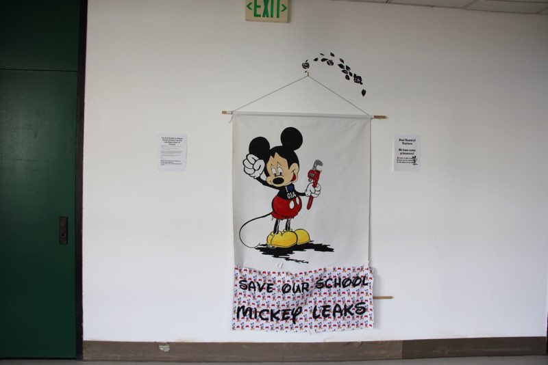 Mickeyleaks Installation Outside the CalArts Board Meeting