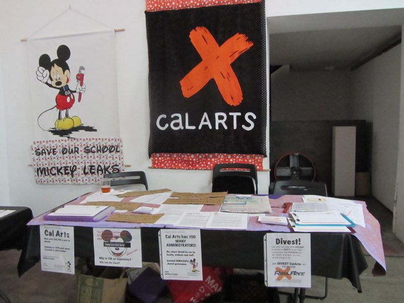 Union Now Tabling with Lydia Hicks, Occupy CalArts,  Mickey Leaks, Divest CalArts at Human Resources Los Angles