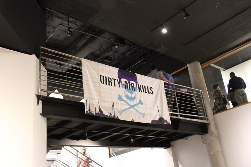 Banner Drop at Opening