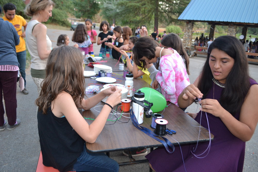 Campers also enjoyed doing arts and crafts at the dance.