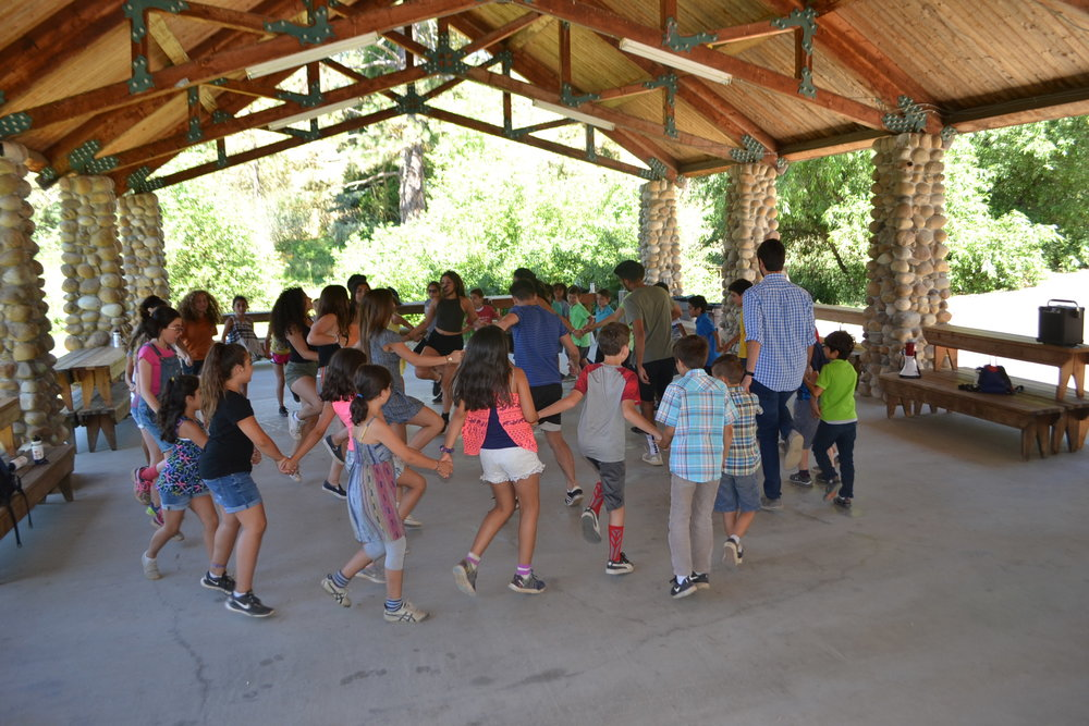Campers learning Armenian dances!