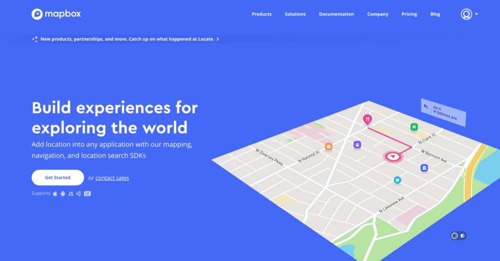 Use of Mapbox - As I wanted to use a map, I researched which platform to best create what I envisioned and I decided on Mapbox.