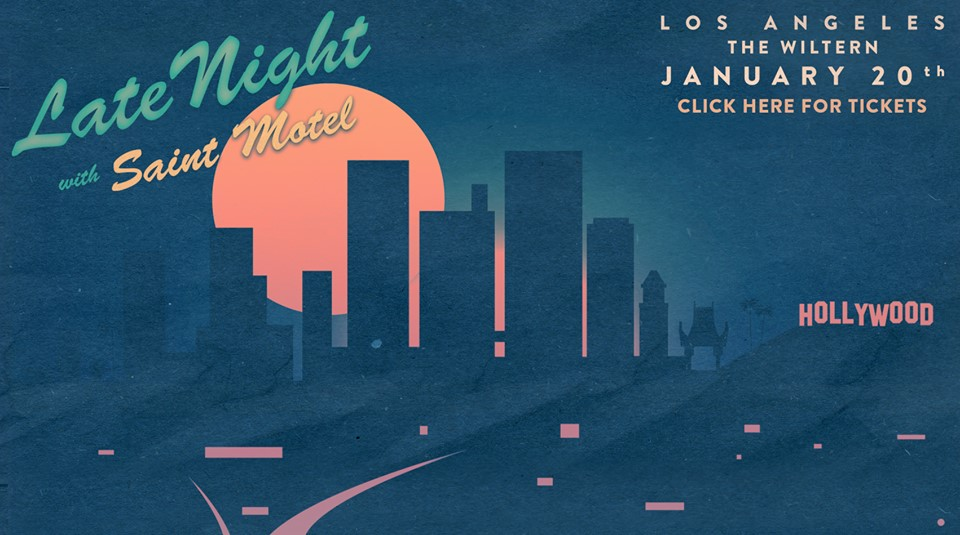 Made for my internship at Vector Management, with their Digital team. The was a Facebook cover photo for the band's upcoming Los Angeles show.