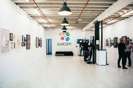 Organisers setting up last years Wacom event.