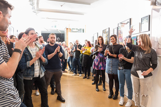 A toast to all the creatives at last years event.