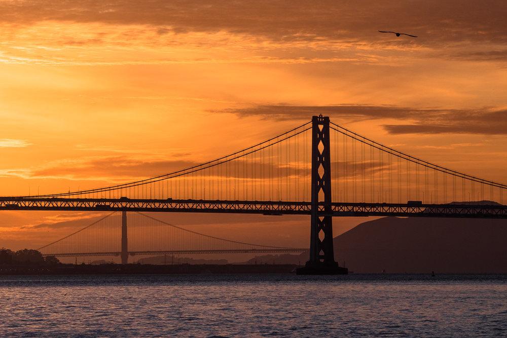The Bay & Golden Gate Bridge - Oakland CA