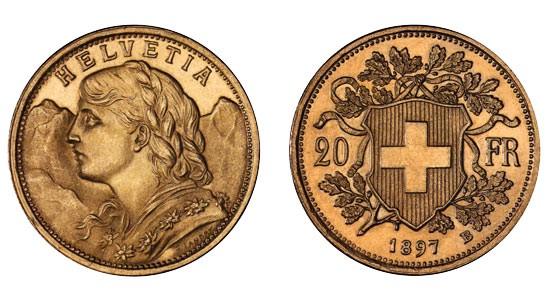 So siehts aus: Das Goldvreneli, Image by Swissmint