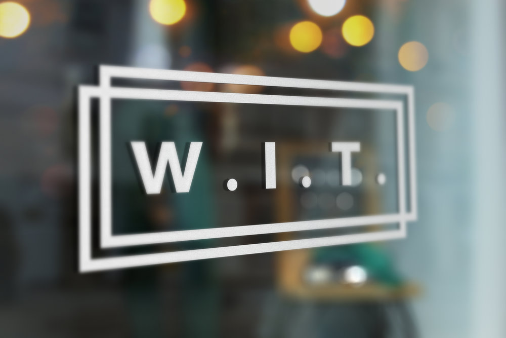 W.I.T. Window sticker mockup