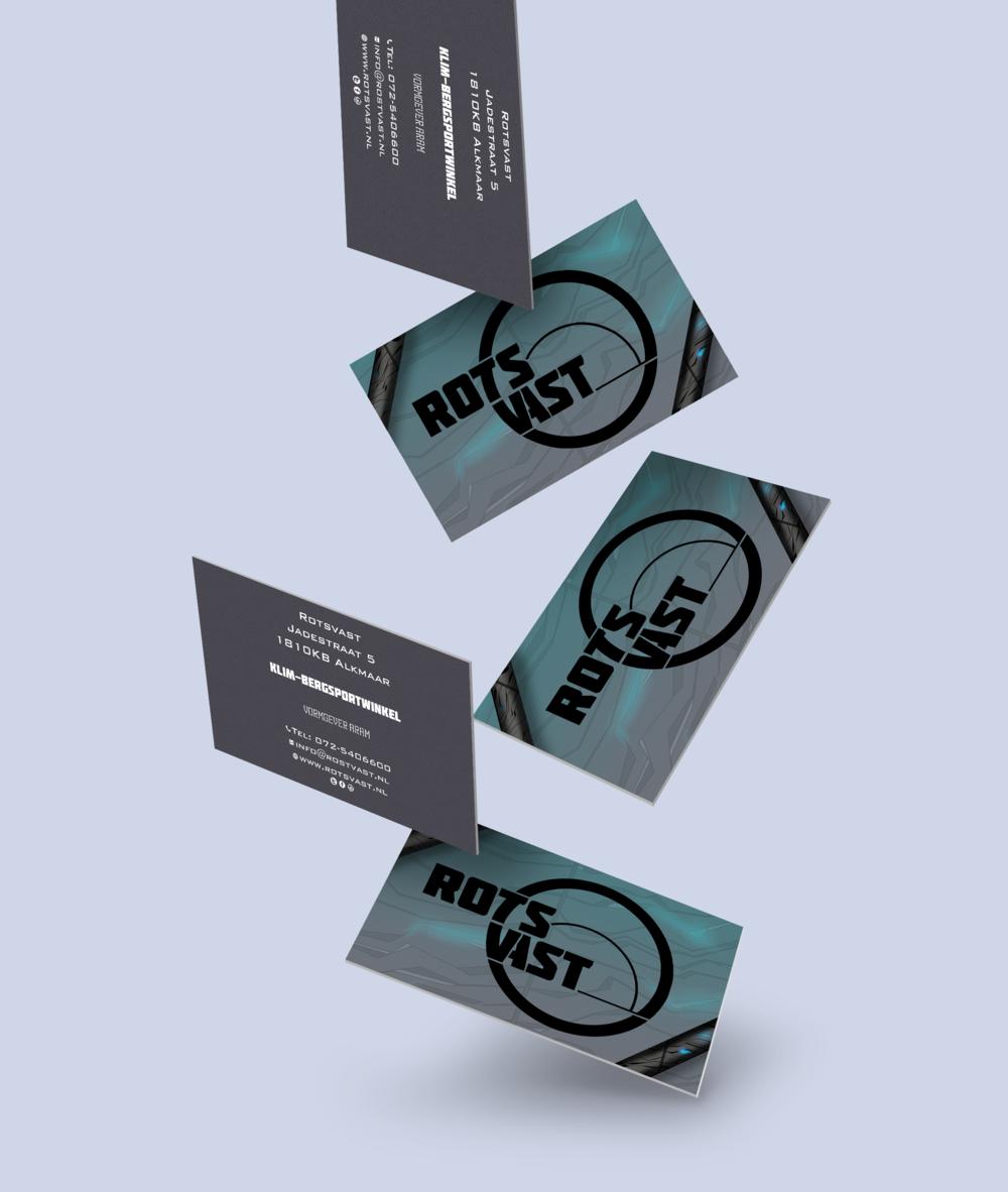 Business card design Rotsvast Falling cards