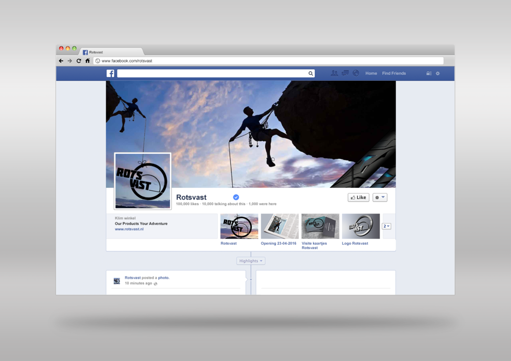 Facebook banner and profile picture
