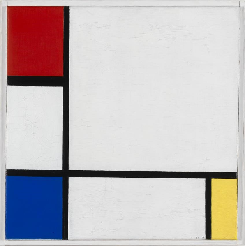 Piet Mondriaan, Composition No. IV - With Red, Blue, and Yellow, 1929, coll. Stedelijk Museum Amsterdam
