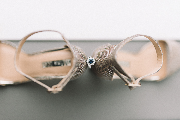 Bridal Details, Shoe & Ring shot - London Wedding Photography