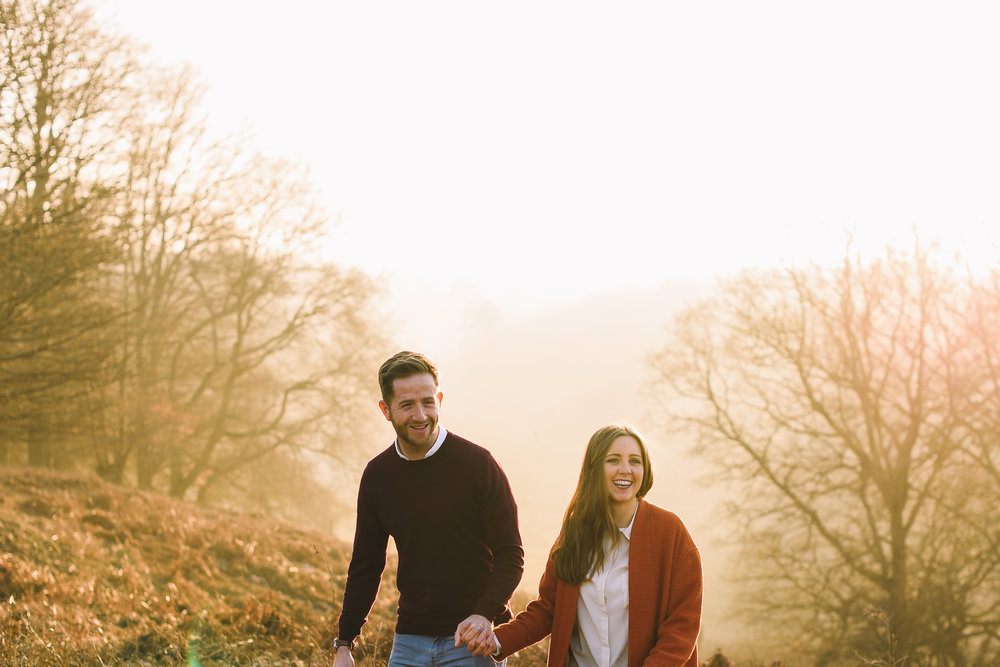 Here is another similar park pre-wedding shoot at Knole Park, in January - a favourite month of mine due to early golden hours!