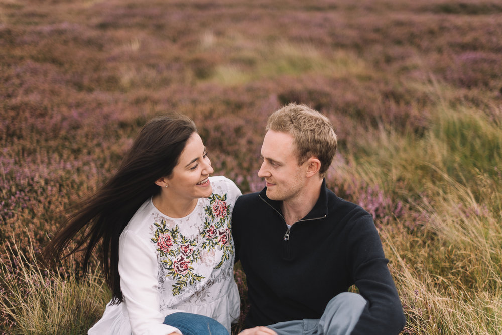 Lucie Watson Photography, Essex Wedding Photographer,  Engagement shoot in the yorkshire moors