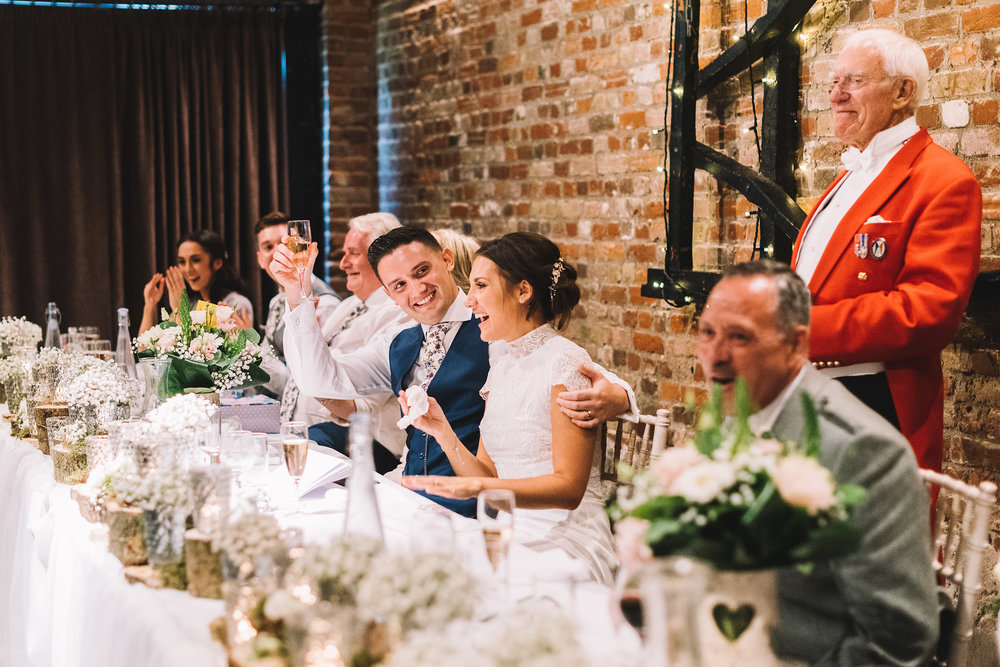 Cooling Castle barn wedding, Lucie Watson Photography