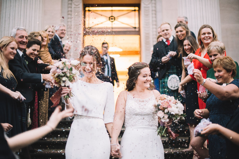 same-sex wedding, old marylebone town hall wedding, Lucie Watson photography
