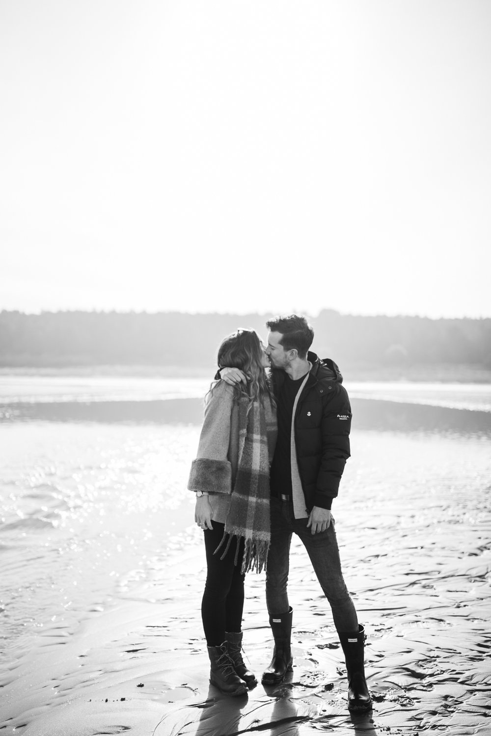Norfolk engagement shoot, holkham hall beach, Lucie Watson photography