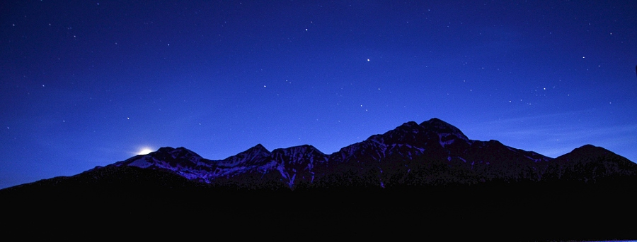 Moonrise over Patricia Lake