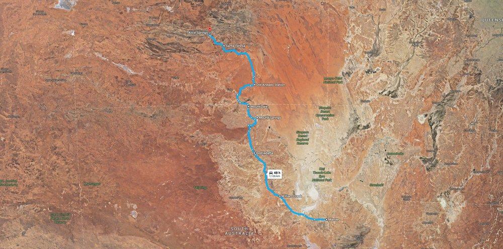 Oodnadatta route