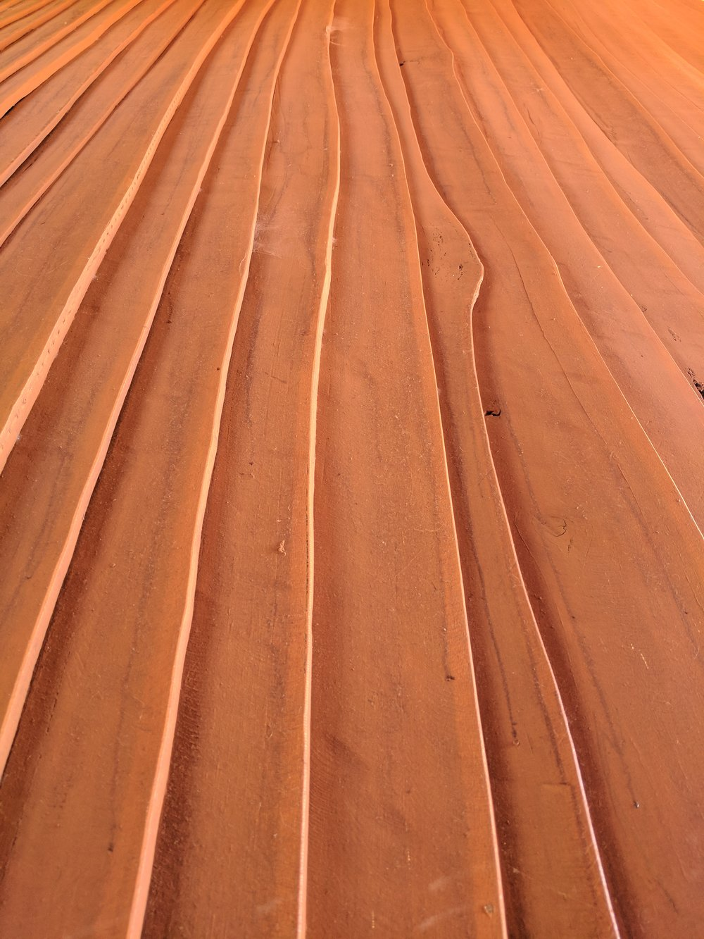 radially sawn cladding
