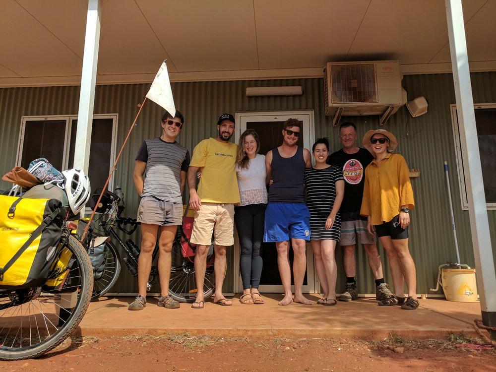 L - R: Owen, Tom, Mon, Dan, Danni, Andy (mon's dad) & Bobbie