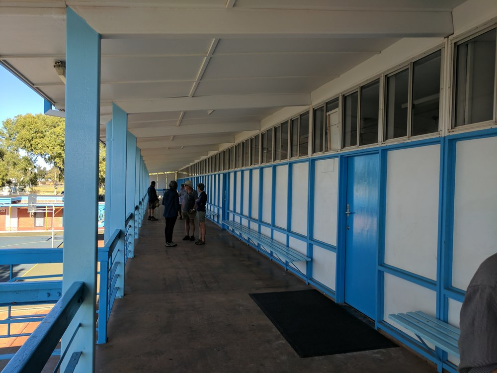 Meekatharra primary school, level two walkway. Also great fun for primary school kids to climb on and over, much to the horror of their teachers