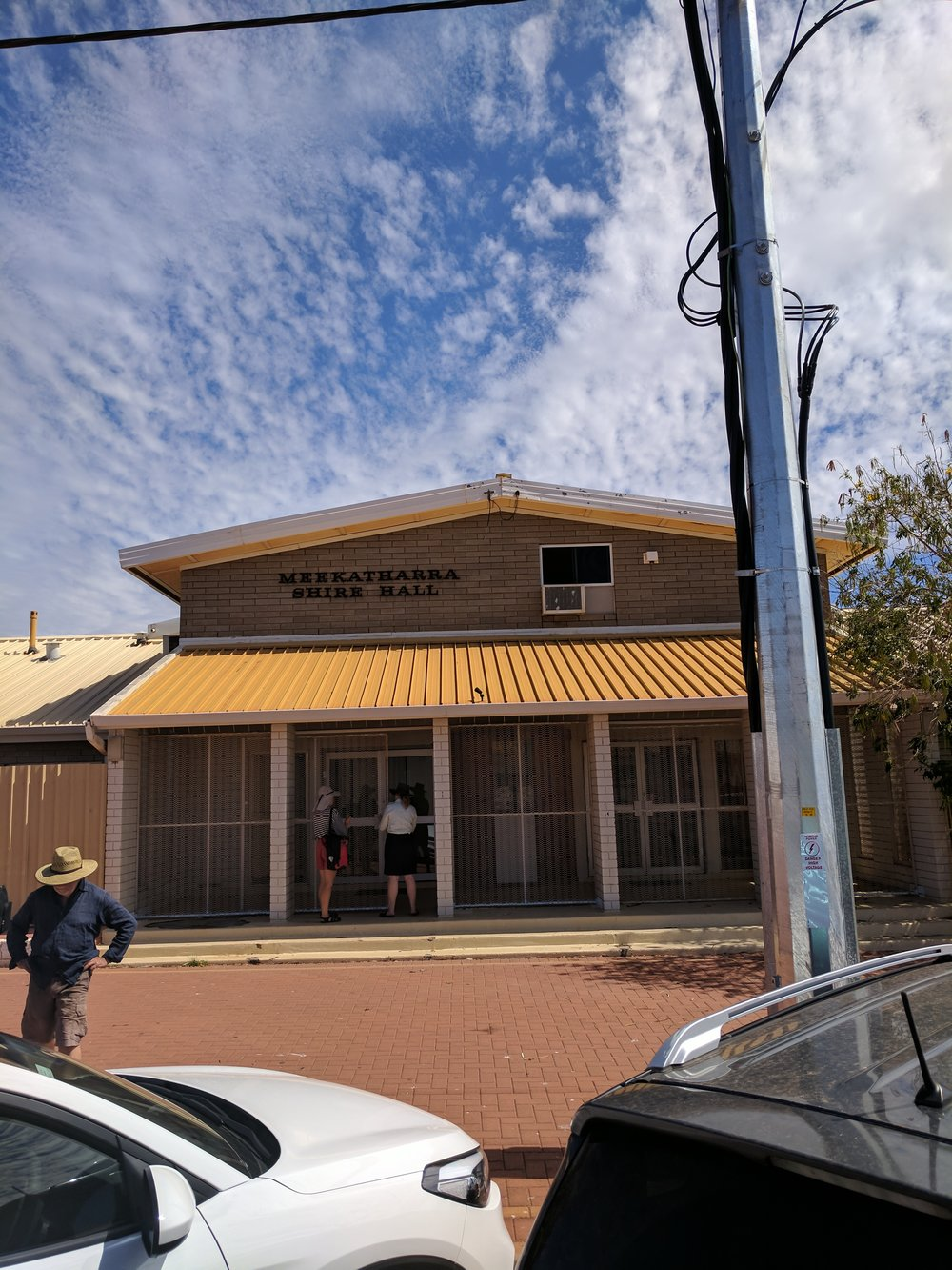 The Meekatharra Shire Hall, where balls and community gatherings happen