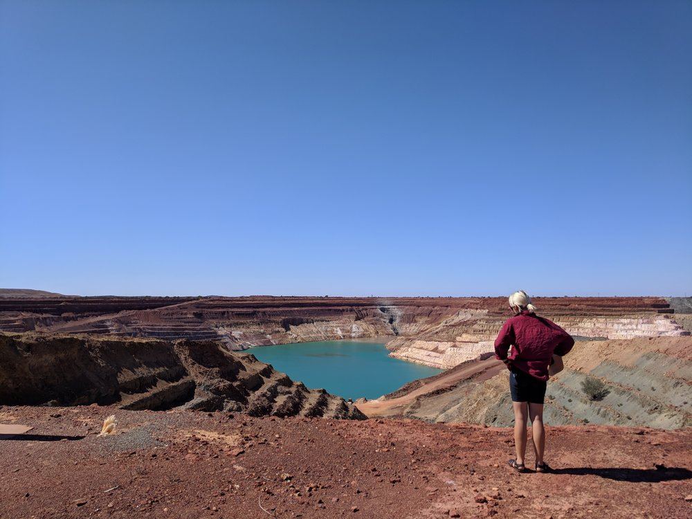 "The pits around Meekatharra, photo taken before a bloke yelled ""I am going to have to ask you politely to piss off""..."