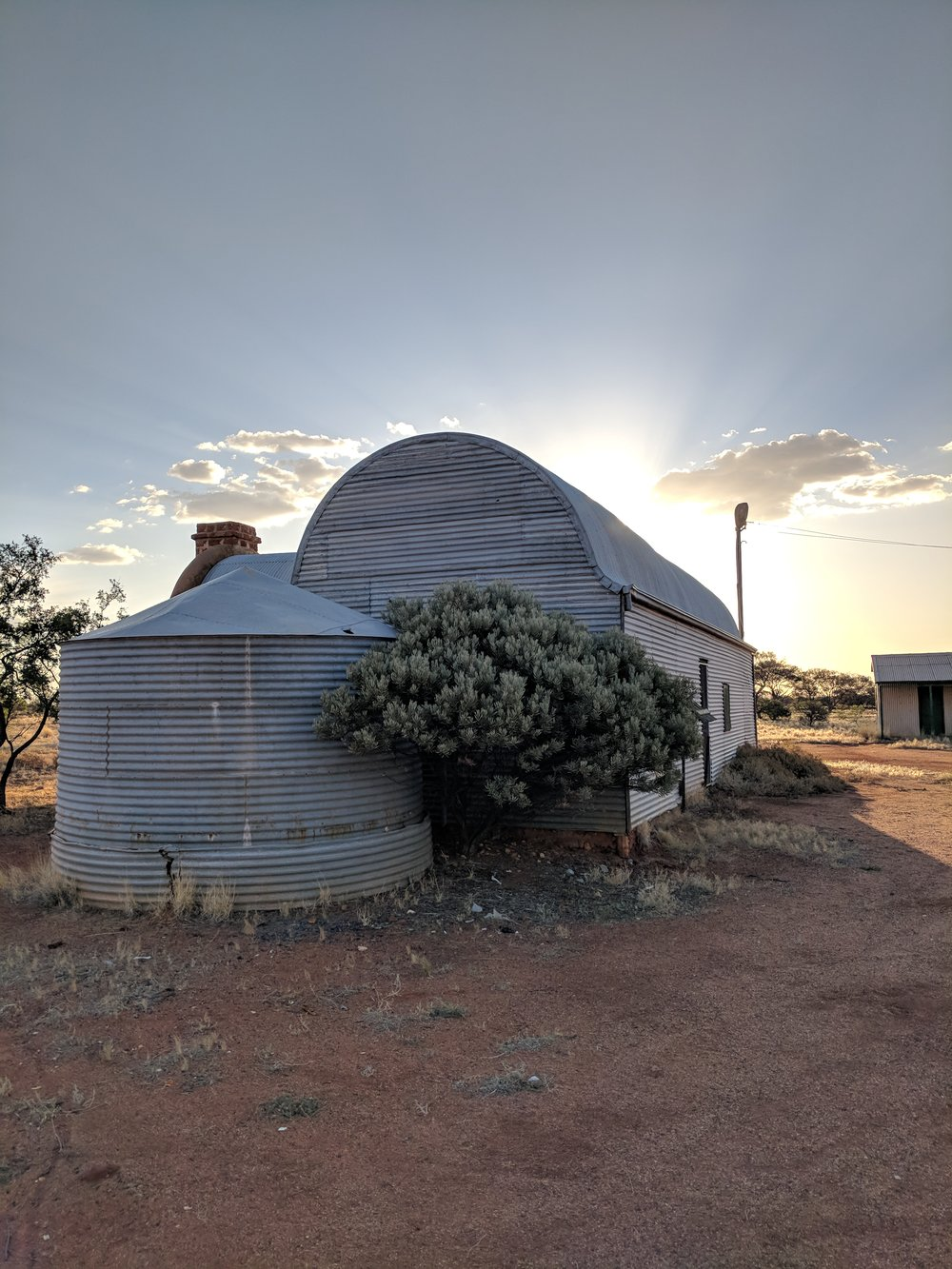 Wooleen Shearers mess, an incredible building with some sexy curves
