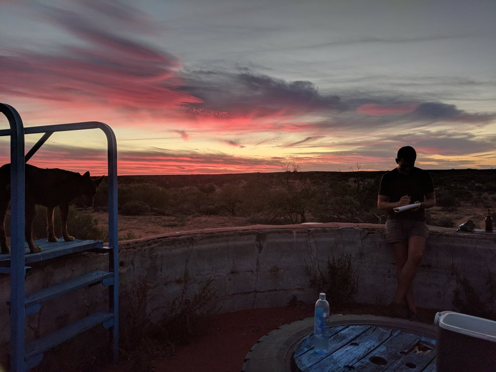 Old water tanks have been converted in to excellent sunset viewing spots!