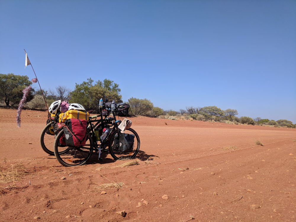 they say this part of WA is where the desert meets the sea. Red earth almost all the way to the water!