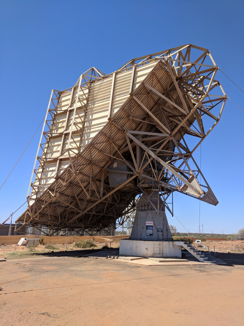 The 12.8 m wide Casshorn antenna or 'sugar scoop', this was in fact what received the infamous words.... That's one small step for man, one giant leap for mankind.""