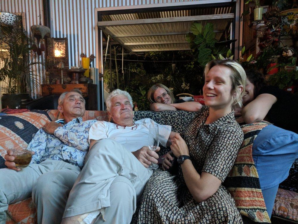 Chriss (Bobbie's dad), Rick Lepastrier, Emily from Troppo (back) & Bobbie