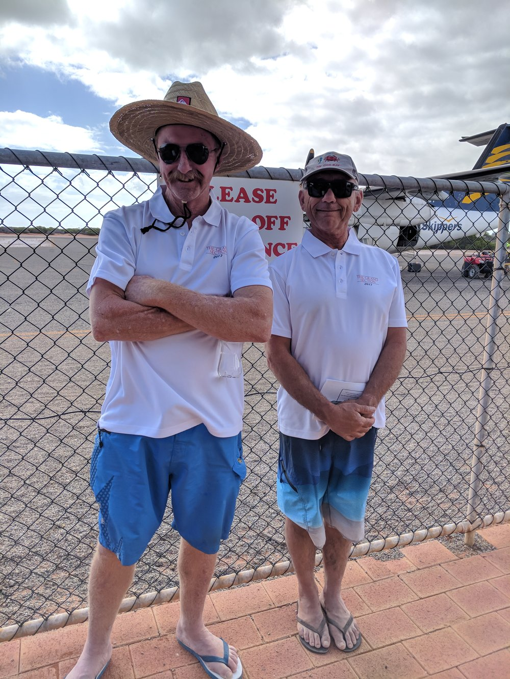 The Support Crew, Bobbies dad Chriss (R) & friend Gerard (L) excited to be a part of the team