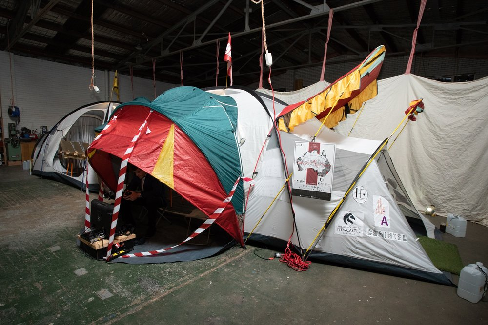 The FIRST Girthy tent set up - Space within a space