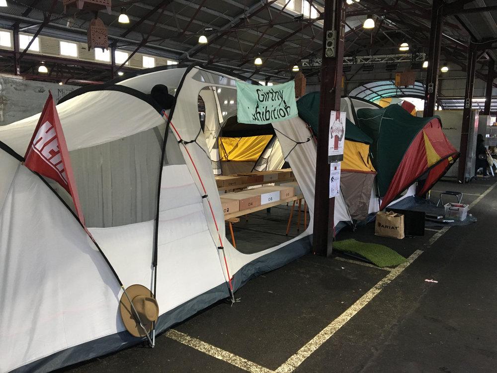 QVM Sunday Setup, entire tent