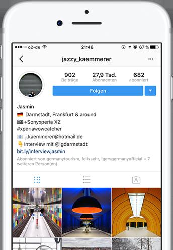 Jasmin Kämmerer Profil Instagram