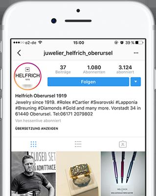 Instagram vin Juwelier Helfrich in Oberursel