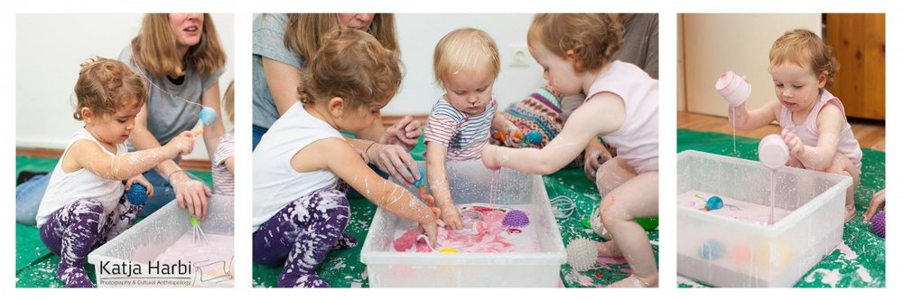 messy play first birthday party in Berlin