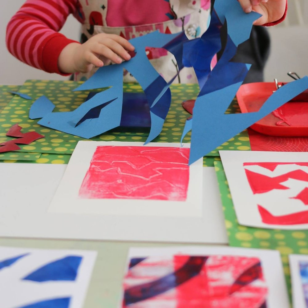 Kids graphic art birthday workshop, little art kids, Berlin kindergeburtstag